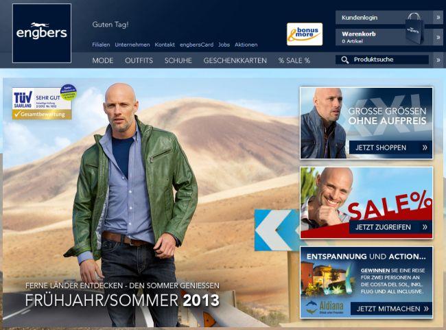 Интернет-магазин Engbers.de