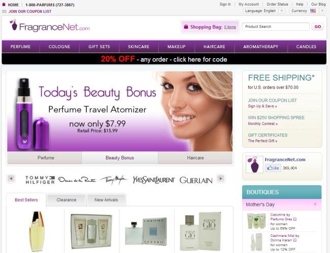 Интернет-магазин Fragrancenet.com