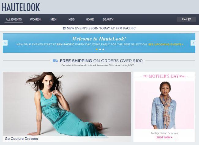 Интернет-магазин Hautelook.com