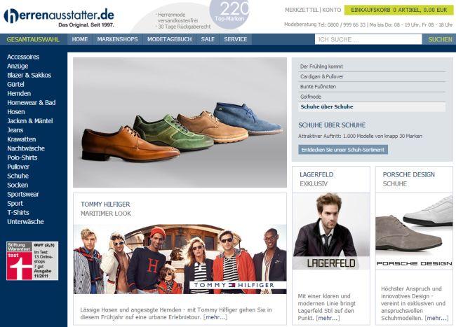 Интернет-магазин Herrenausstatter.de