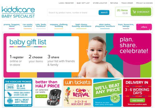Интернет-магазин Kiddicare.com