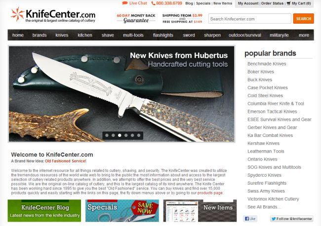 Интернет-магазин Knifecenter.com