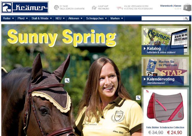 Интернет-магазин Kraemer-pferdesport.de