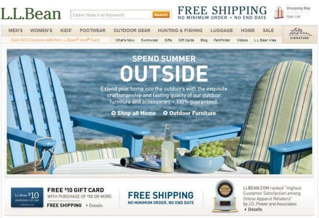 Интернет-магазин Llbean.com