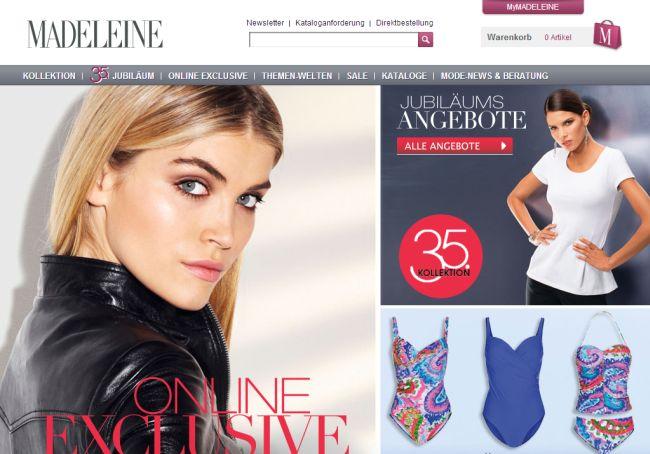 Интернет-магазин Madeleine.de