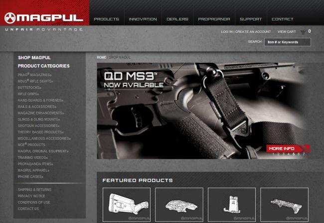 Интернет-магазин Store.magpul.com