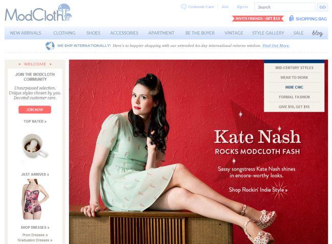 Интернет-магазин Modcloth.com