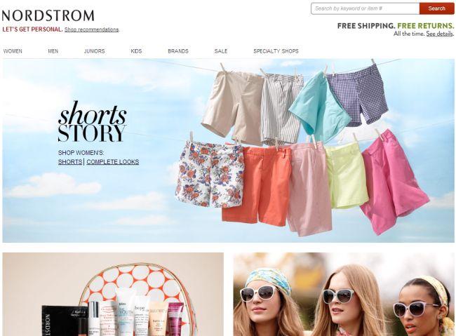 Интернет-магазин shop.nordstrom.com
