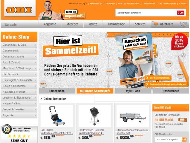 Интернет-магазин Obi.de
