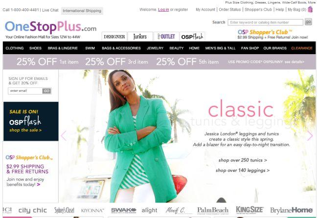 Интернет-магазин Onestopplus.com