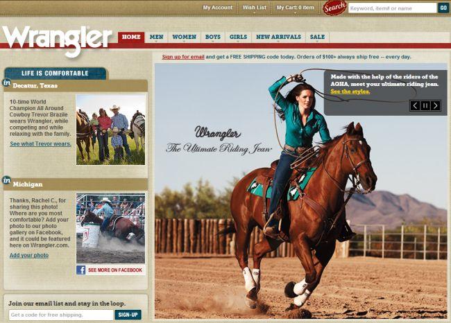 Интернет-магазин Wrangler.com