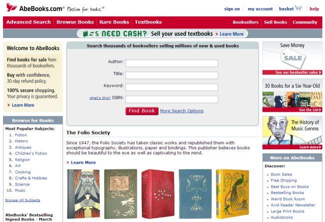 Интернет-магазин Abebooks.com