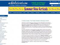 Интернет-магазин Achildscloset.com