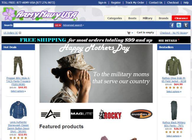 Интернет-магазин Armynavyusa.com