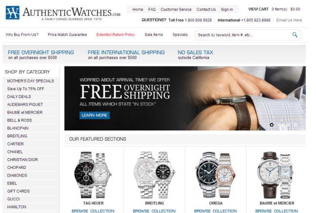 Интернет-магазин Authenticwatches.com