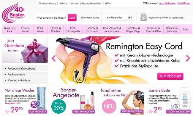 Интернет-магазин Basler-haarkosmetik.de