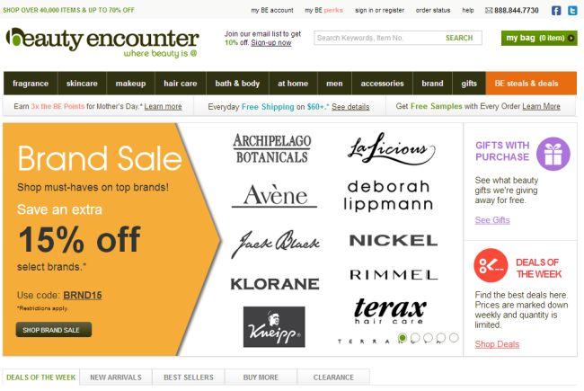 Интернет-магазин Beautyencounter.com