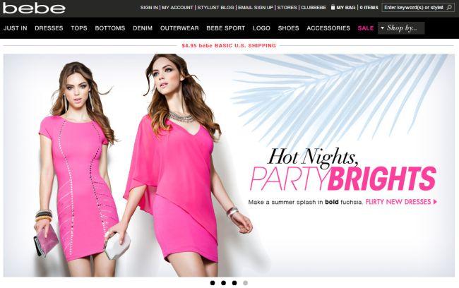 Интернет-магазин Bebe.com