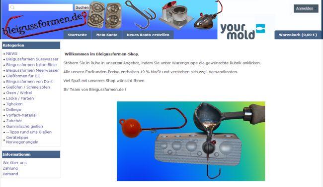 Интернет-магазин Bleigussformen-shop.de