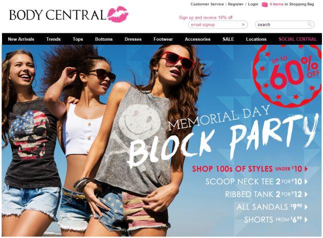 Интернет-магазин Bodycentral.com