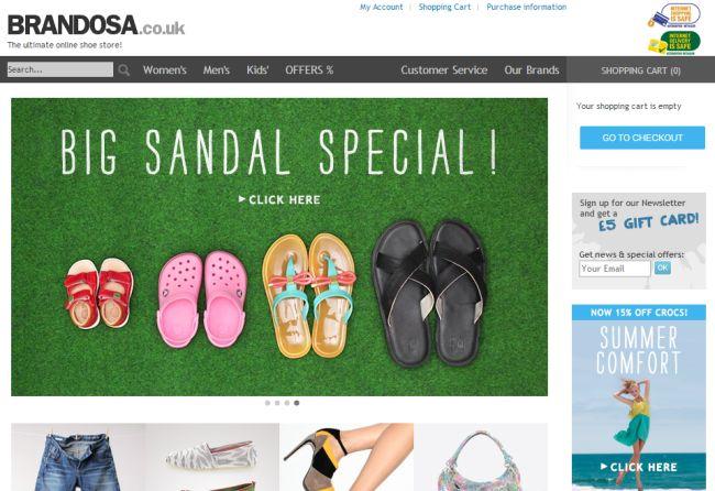 Интернет-магазин Brandosa.co.uk