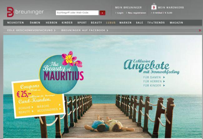 Интернет-магазин Breuninger.com