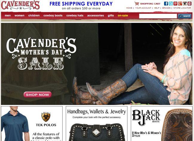 Интернет-магазин Cavenders.com