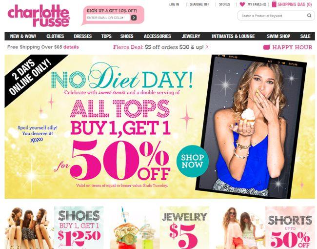 Интернет-магазин Charlotterusse.com