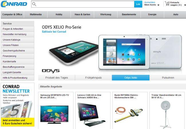 Интернет-магазин Conrad.de