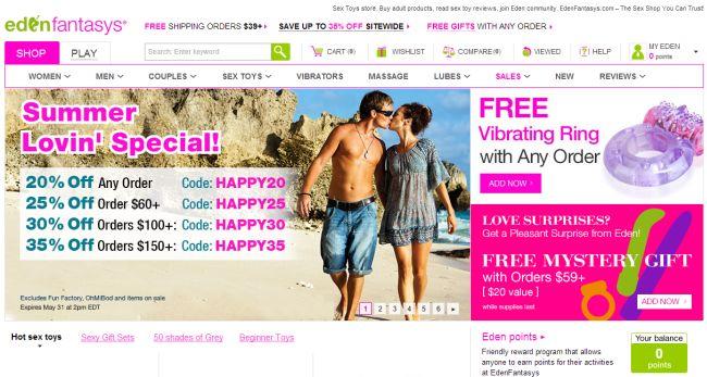 Интернет-магазин Edenfantasys.com