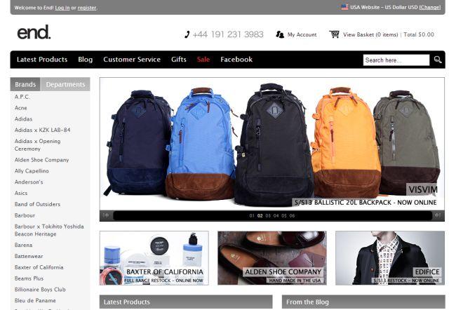 Интернет-магазин Endclothing.com