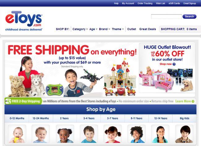 Интернет-магазин Etoys.com