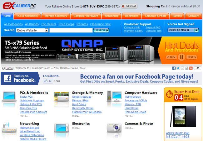Интернет-магазин Excaliberpc.com