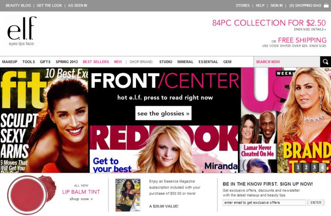 Интернет-магазин Eyeslipsface.com