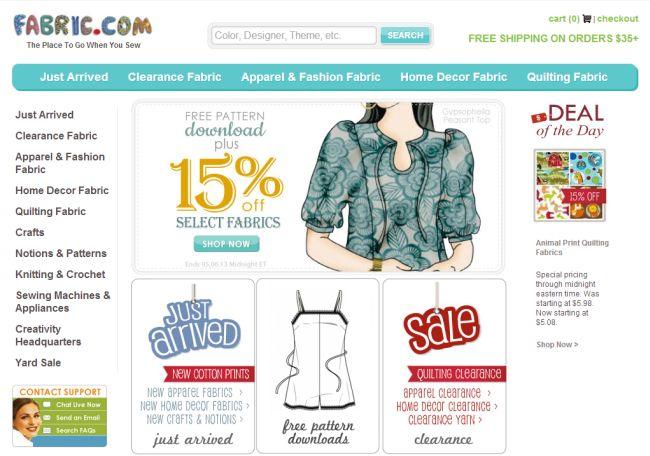 Интернет-магазин Fabric.com