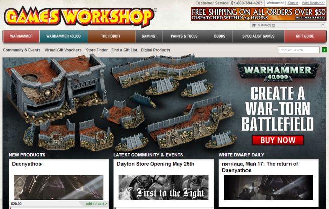 Интернет-магазин Games-workshop.com