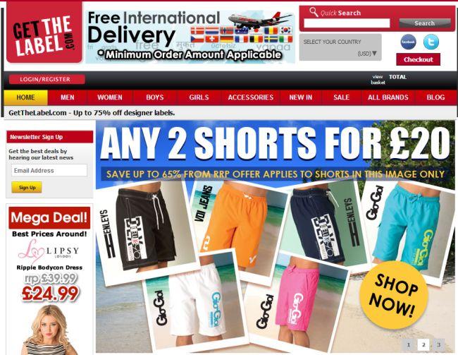 Интернет-магазин Getthelabel.com
