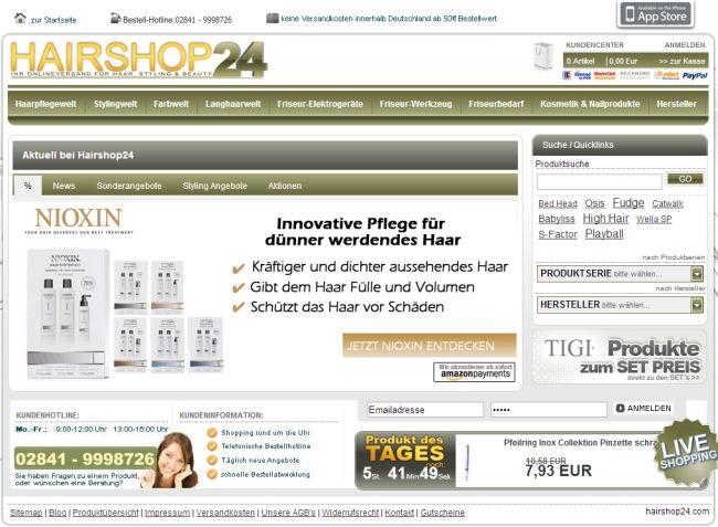 Интернет-магазин Hairshop24.com