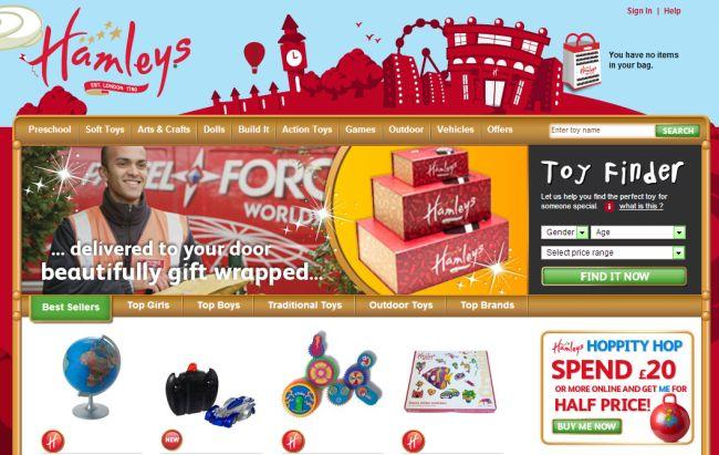 Интернет-магазин Hamleys.com