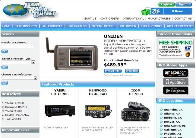 Интернет-магазин Hamradio.com