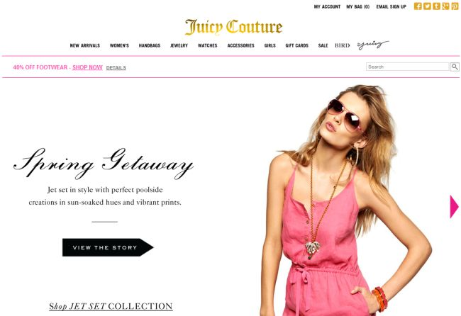 Интернет-магазин Juicycouture.com
