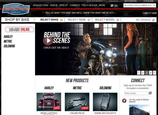 Интернет-магазин Kuryakyn.com