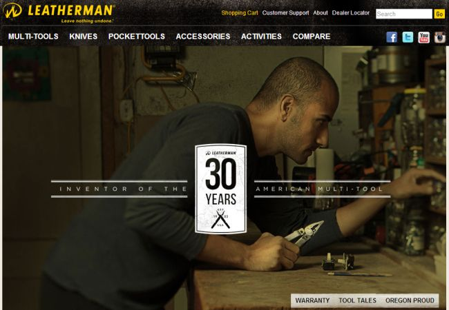 Интернет-магазин Leatherman.com