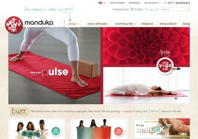 Интернет-магазин Manduka.com
