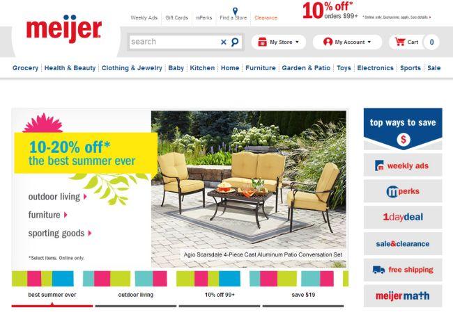 Интернет-магазин Meijer.com