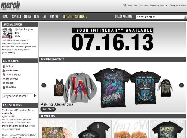 Интернет-магазин Merchconnectioninc.com