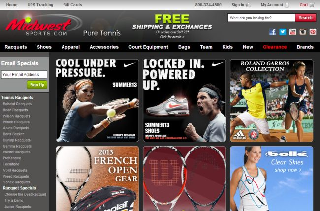 Интернет-магазин Midwestsports.com
