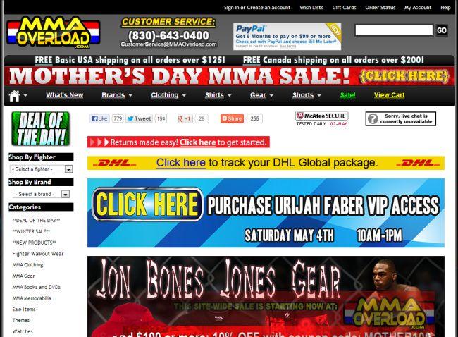 Интернет-магазин Mmaoverload.com