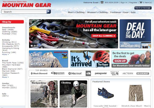 Интернет-магазин Mountaingear.com