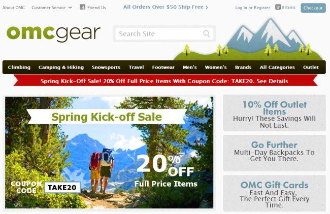 Интернет-магазин Omcgear.com